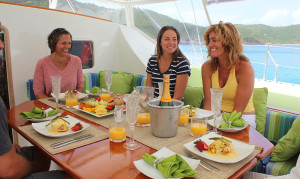 Fine Dining and great yacht charter services