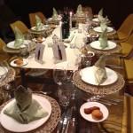 Med, Table setting 2013