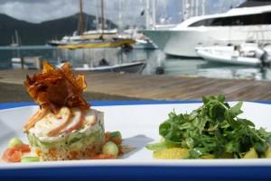luxury yacht cuisine