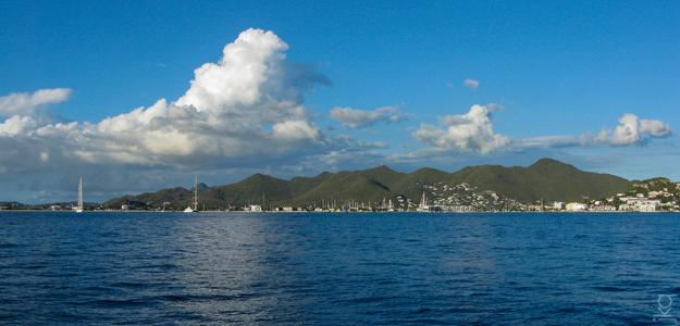 Approaching St Maarten