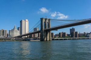 Brooklyn Bridge from the Sea