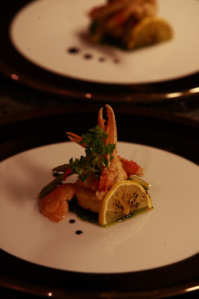 Poached scampi appetizer web