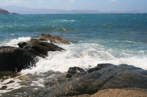 Rough seas near Naxos