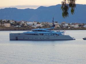 Luxury charter motor boat