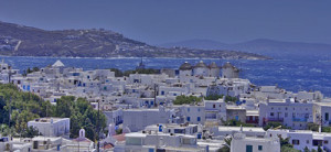 Distant View of Mykonos