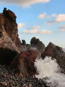 Waves on Rocks in Sicily