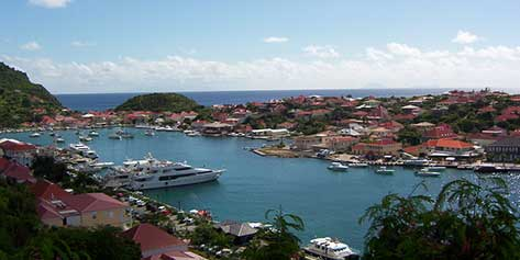 Luxury dock anchored in St. Barts
