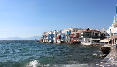 Port of Mykonos near Greece