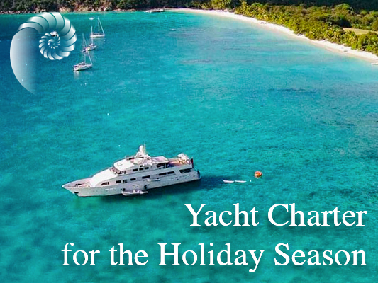 Yacht charter for the holiday season