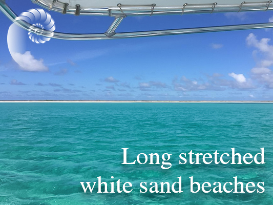 long stretched white sand beaches